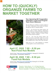 Cover photo for COVID-19 and Local Foods: Seminar to Review Collaborative Farm Product Distribution Models
